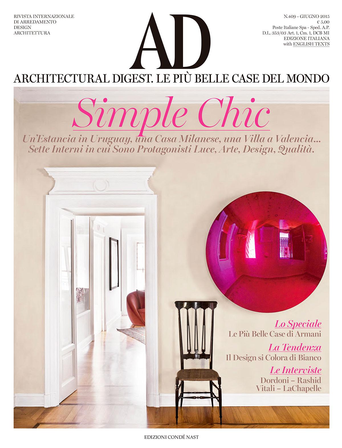 Ad P Architetti architectural digest italia - milano home   luis ridao